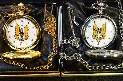 Sas The Sas Special Air Service Pocket Watch Silver/gold With/without Engraving
