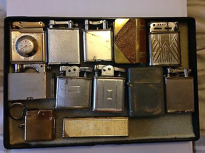 12 Rare Vintage Collectable Lighters(dunhill,Parker,colibri, Polo Trench Etc)