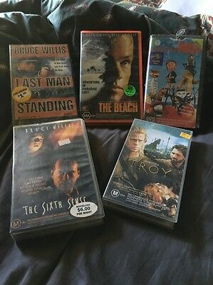 Rare Vintage Collection Of Movies VHS Tapes Movie Memorabilia Collectables