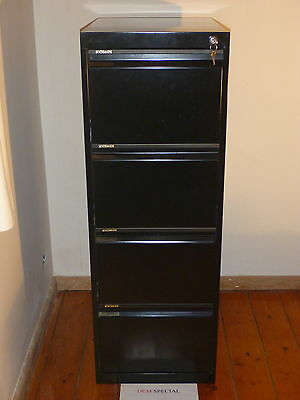 Statewide 4 Drawer Metal Filing Cabinet Black with Keys