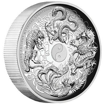 2016 Ancient Mythical Creatures 1oz Silver Proof High Relief Coin