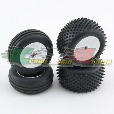 Set Gomme Micro Baja Front/rear Crome