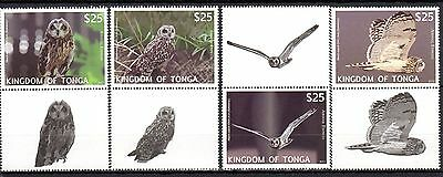 Tonga 2012 Birds Owl MNH Mi.1793-96 (with coupon)
