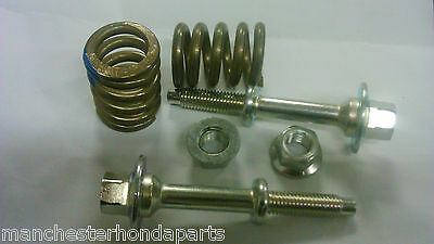 Genuine Honda Exhaust Fittings / Fixings ( 2 Bolts/2 Springs And 2 Locking Nuts