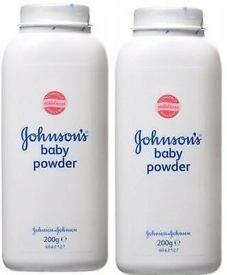2 x JOHNSONS  BABY POWDER 200g TALCUM TALC HIGH SOFT PROTECTION JOHNSON'S