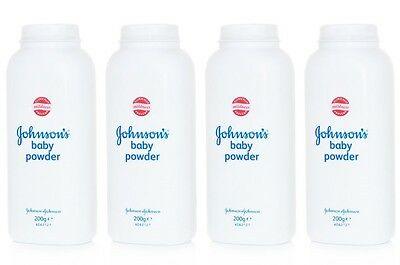 4 x JOHNSONS  BABY POWDER 200g TALCUM TALC HIGH SOFT PROTECTION JOHNSON'S