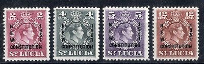 St Lucia. 1951. New Constitution.  SG167-170.  Mint