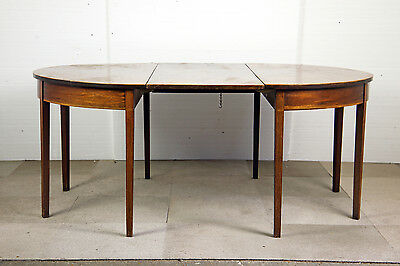 GEORGIAN MAHOGANY D-END DINING TABLE with LEAF