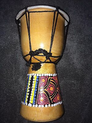 20cm painted/carved Djembe