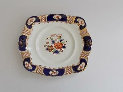 Antique Tuscan Hand Painted English Cake Plate.c.1907-1920.
