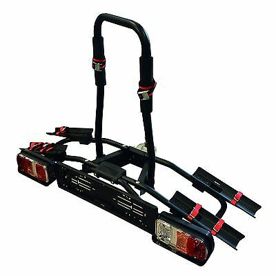 Menabo 2 Bike Carrier Tow Bar Mounted Rear Cycle Rack With Lights 7 & 13 Pin
