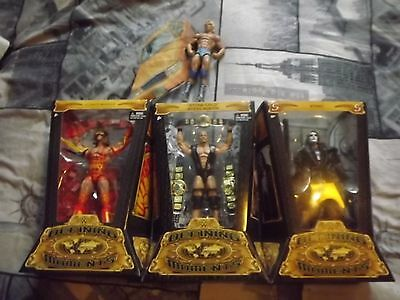 Wwe Elite Defining Moments Figures X4 Warrior Sting Austin Ric Flair