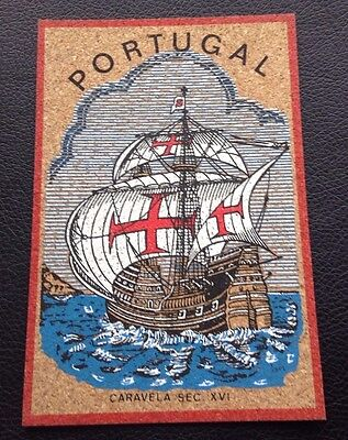 Unusual Postcard: Portugal: Un Posted: Made Of Cork Type Material?: Un Posted