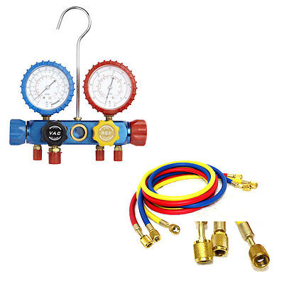 Air Conditioning AC Diagnostic A/C Manifold Gauge Tool Set Refrigeration R-404A