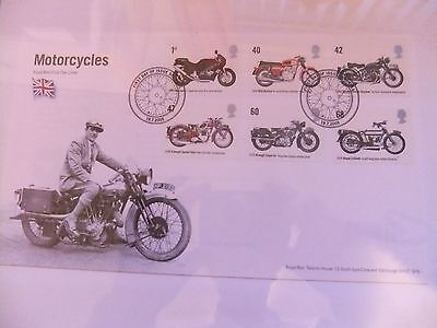 Motorcycles Royal Mail First Day Cover