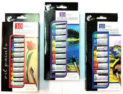 Artists Paints Acrylic Watercolour Oil Paint Sets Drawing Sketching Fun Art New