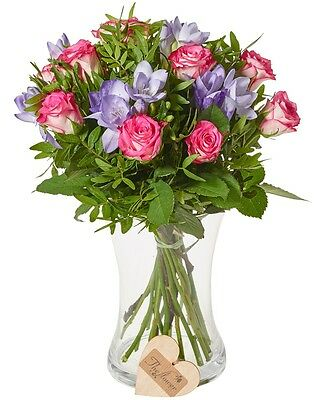 The Flower Rooms - Classic Rose and Freesia Mixed Bunch Flower Gift Birthday