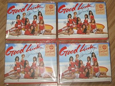 AOA Good Luck 4TH MINI ALBUM WEEK A.VER REAL SIGNED AUTOGRAPHED CD + PHOTOCARD