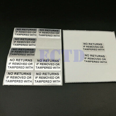 Warranty Tamper Proof Labels Stickers No Return If Removed Or Tempered 20x10mm