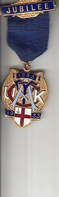 Royal Commercial Travellers 1933 Jubilee Trade Union Badge