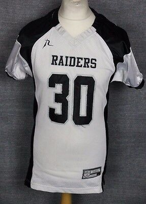 #30 Oakland Raiders American Football Jersey Youths Large Team Rebel Gear