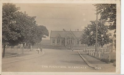 Allendale Fountain Real Photo Monarch Series Postcard used 1916 to Gateshead