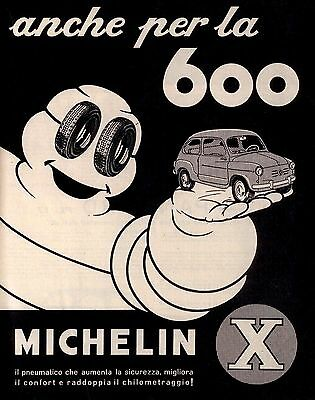 Pubblicità originale Anni 60 MICHELIN X Per 600 advertising werbung vintage old