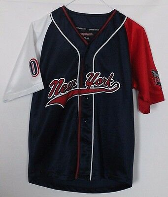 #07 Vintage New York Baseball Jersey Youths Medium Pagaderm
