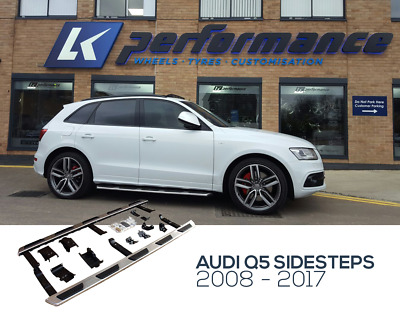 AUDI Q5 OE STEP FOR 2009 + 4x4 STAINLESS STEEL SIDE STEPS RUNNING BOARDS