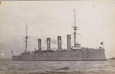 "Imperial Russian Navy Real Photo. ""Pallada"" Cruiser. Sunk in WW1. Rare!  c 1906"