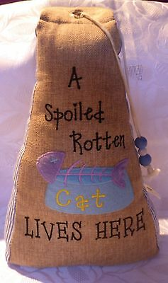 Cat Themed Door Stop - Home Living by Juliana (for Pound Puppy Charity)