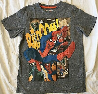 Marvel Spiderman T-Shirt by H&M Boys Size 6-8 Years Excellent!