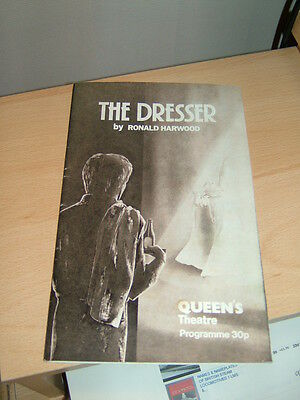 THE DRESSER starring Tom Courtney - Dec80 Programme from Queens Theatre/gc