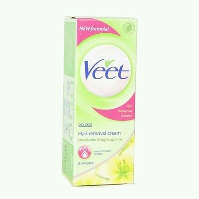 2 x Veet Hair Removal Cream with Shea Butter And Lily Dry Skin 25 g x 2
