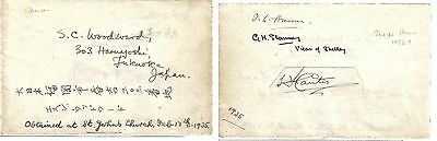 Canon Woodward, Missionary to Japan + George Stanney, Vicar of Shelley +2 -sigs