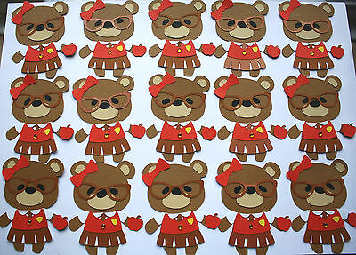 28 GOOD LUCK IN YOUR NEW CLASS/YEAR  24 plus 4 free 28 TEDDY BEAR TOPPERS 010