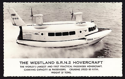 Westland SRN2 Passenger Hovercraft Real Photographic Postcard PC RPPC Transport
