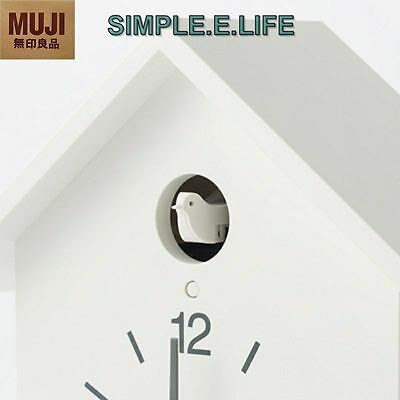 Simple.e.life White Hand Made Cuckoo Clock With Light Sensor Free Shipping