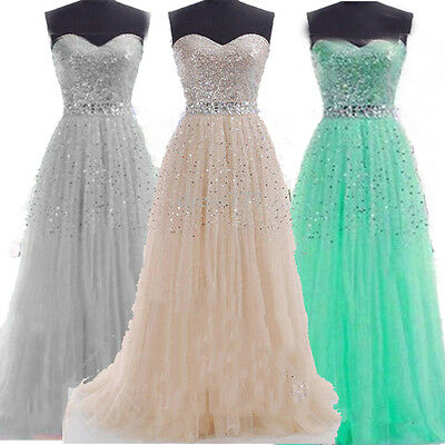 Women Wedding Bridesmaid Long Evening Party Ball Prom Gown Cocktail Formal Dress