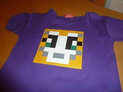 Girls Minecraft T Shirt Size 9-10 years Excellent Condition