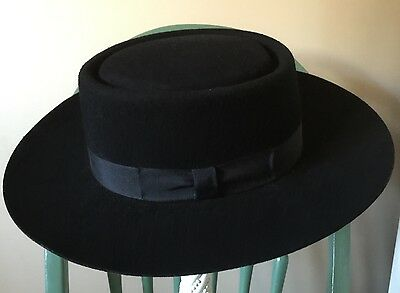 Authentic Vintage Amish Boys 100 % Wool Hat Size Small USA Fantastic Condition