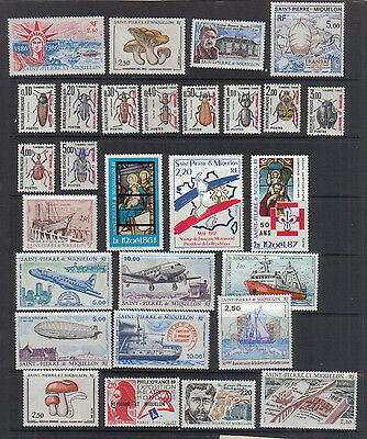 St Pierre and Miquelon 1986-88 Unmounted mint collection