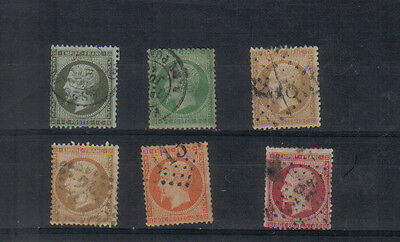 France 1862 Six values to 80c used