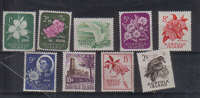 Norfolk Island 1960-62 set to 2/- very lightly mounted mint