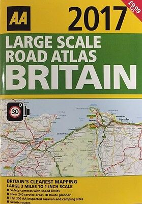 Aa Large Scale Road Atlas Britain Road Map 2017 Brand New Latest Edition *sale*