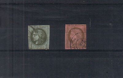 France 1870-71 1c and 10c used
