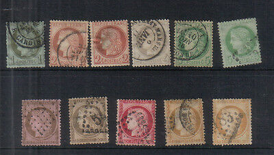 France 1871-76 Used values to 80c