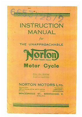 Norton The Unapproachable Motorcycle Operators Manual