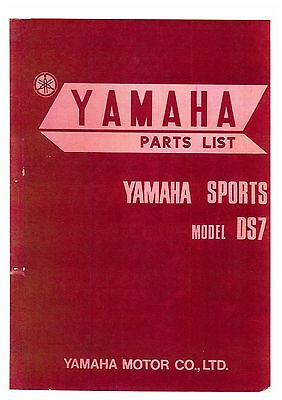 Yamaha Sports Model Ds7 Motorcycle Spare Parts Manual