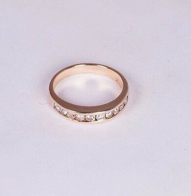 14K YELLOW GOLD Diamond Anniversary Band with app  1/3 ct  tw , size